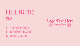 Swirly Pastry Shop Wordmark Business Card