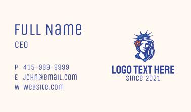 Statue of Liberty Mascot Business Card