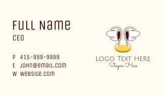 Childish Duck Head  Business Card