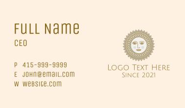 Hypnotic Sun Face Business Card