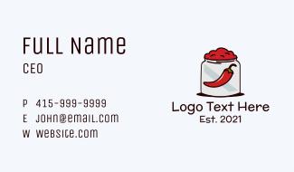 Chili Paste Jar Business Card