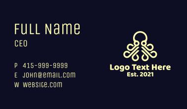 Modern Octopus Business Card