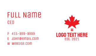 Red Canada House Business Card