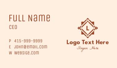 Brown Tile Letter Business Card