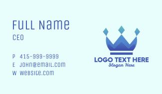 Blue Diamond Crown Business Card
