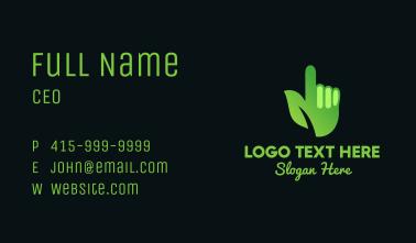 Green Environmental Hand Business Card