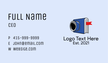 Camera Photography Book  Business Card
