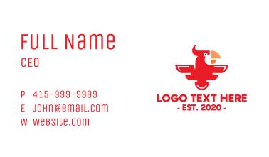 Modern Red Parrot Business Card