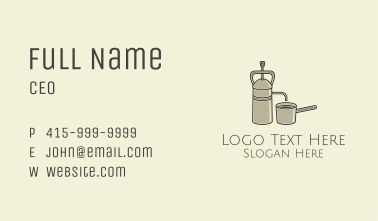 Steel French Press Business Card
