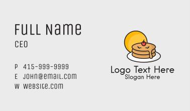 Angry Pancake Mascot Business Card