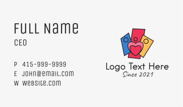 Family Charity Organization Business Card
