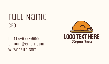 Roasted Chicken Plate Business Card