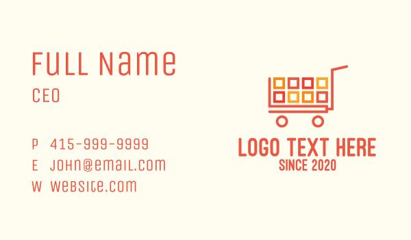 blocks - Ecommerce App Shopping Cart Business card horizontal design