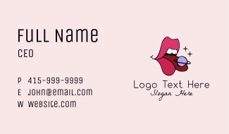 Sexy Lips Planet  Business Card