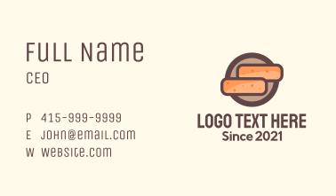 Construction Brick Badge Business Card