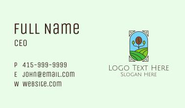 Coffee Farm Field Business Card