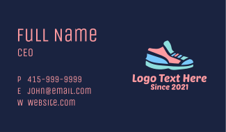 Colorful Rubber Shoes Business Card
