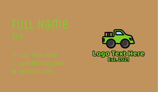 Delivery Pickup Truck Business Card