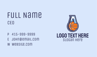 Letter A Basketball  Business Card