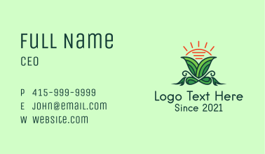 Sunny Herbal Plant Business Card