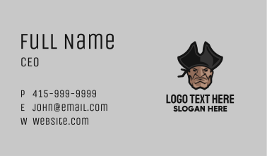 Angry Pirate Head Business Card