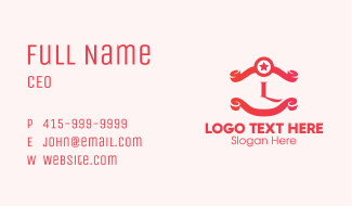 Spa Salon Lettermark Business Card