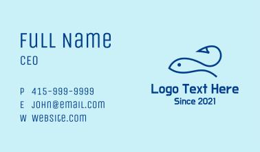 Blue Fishing Hook Business Card