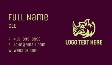 Angry Rhinoceros Head  Business Card
