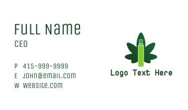 Vape Cannabis  Business Card