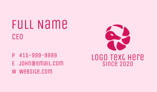 Pink Armadillo Ball Business Card