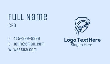 Blue Car Insurance  Business Card