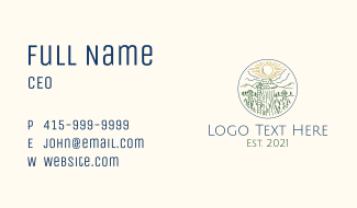 Sky Forest Camp Business Card