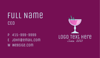 Party Cocktail Drink  Business Card