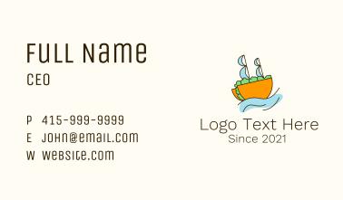 Taco Sailing Ship Business Card