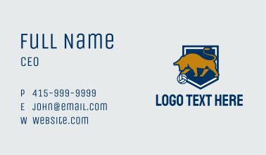 Volleyball Bull Shield Business Card