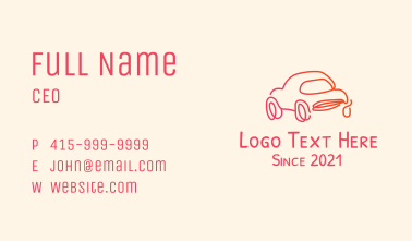 Monoline Car Dealer Business Card