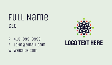 Multicolor Dotted Flower  Business Card
