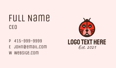 Tiger Ladybug Mask  Business Card