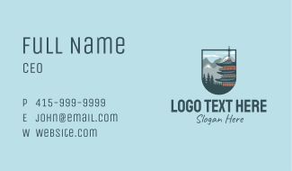 Chinese Temple Emblem Business Card