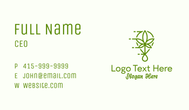 Cannabis Leaf Drop Business Card