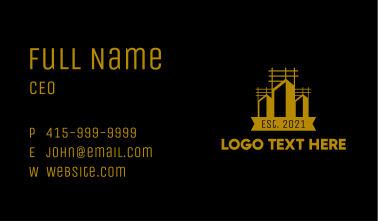 Urban Construction Tower Business Card