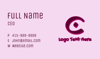 Marker Graffiti Letter C Business Card