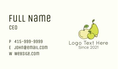 Organic Fruit Plant Business Card