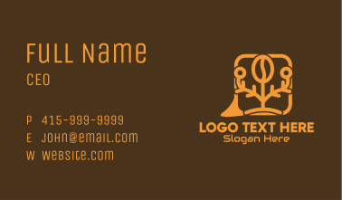 Coffee Bean Message Bubble Business Card