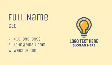 Light Bulb Man Business Card