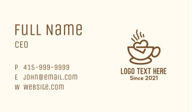 Hot Coffee Lover Business Card