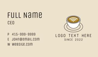 Wifi Internet Cafe Coffee Business Card