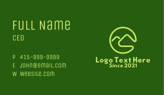 Green Mountain Letter C Business Card