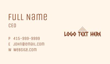 Aztec Pattern Wordmark Business Card