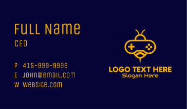 Yellow Bee Video Game Business Card